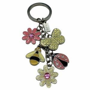 COACH Flower Ladybug Butterfly Bee Key Ring Fob